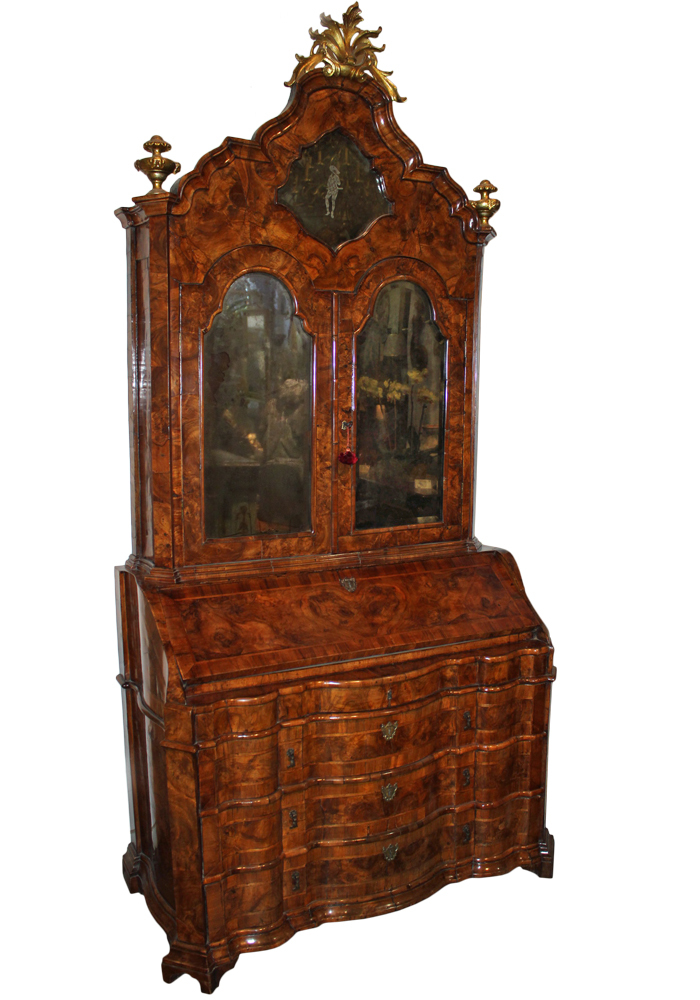 An 18th Century Venetian Burled Olivewood Secretaire No. 2002