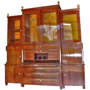 A 19th Century German Biedermeier Mahogany Breakfront Bureau No. 2968