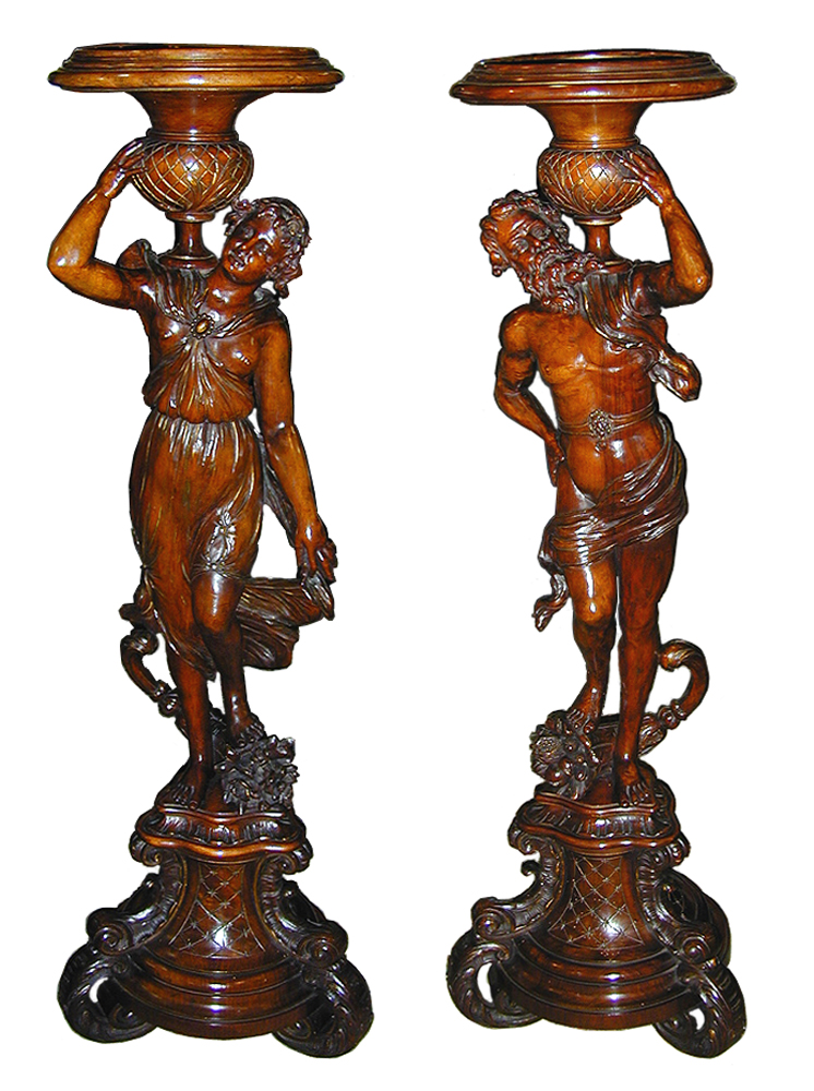 A Magnificent Pair of 18th Century Venetian Torchères No. 2055
