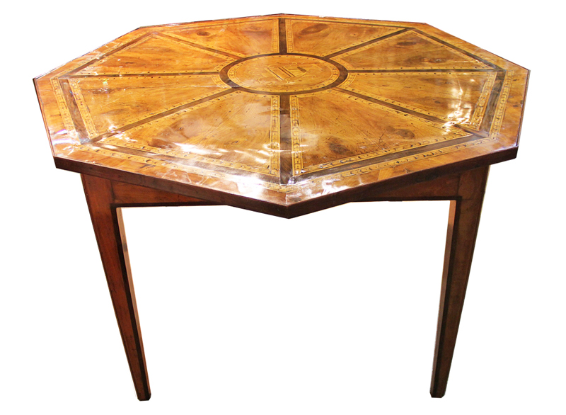 An 18th Century Italian Walnut Inlaid Center Table No. 2080