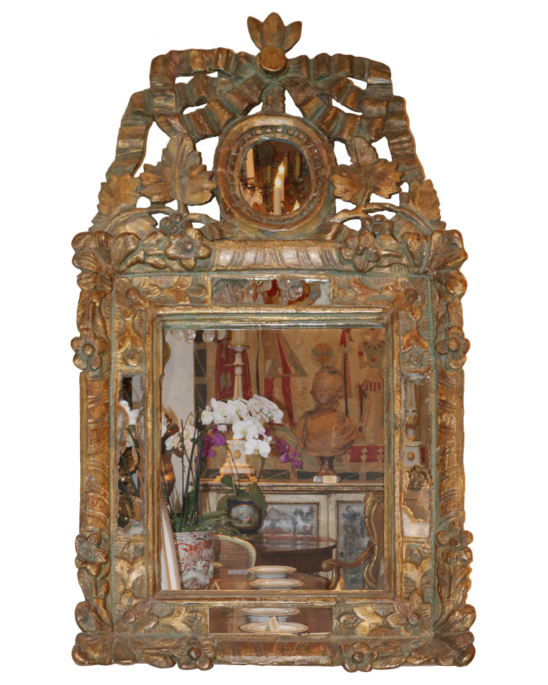 A Distinctive and Diminutive 18th Century Régence Mirror No. 2222