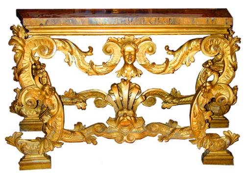 A Rare 18th Century Venetian Giltwood Console Table No. 1862
