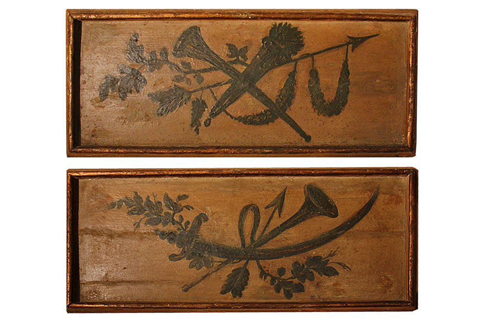 A Pair of 18th Century Polychrome Sopraporta No. 2328