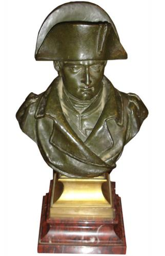 An Early 19th Century French Bronze Bust of Napoleon No. 3363