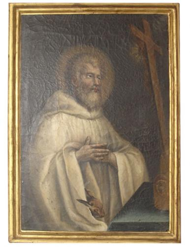 A 17th Century Oil on Canvas of St. Francis of Assisi No. 3371