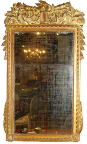 A French 18th Century Louis XVI Giltwood Neoclassical Mirror No. 3339