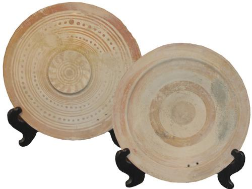 An Etruscan Terracotta Plate No. 3383