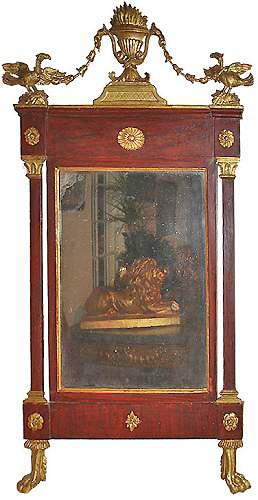 An 18th Century Swedish Mahogany and Parcel Gilt Mirror No. 3428