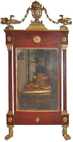 An 18th Century Swedish Mahogany and Parcel Gilt Mirror No. 3428