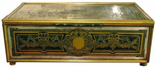 A Large Late 18th Century French Niello Valuables Box No. 2902
