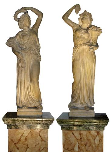 A Pair of Late 18th Century Terracotta Florentine Statues No. 3571