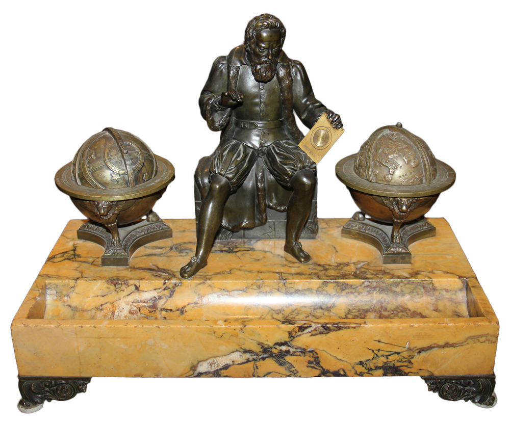 An Early 19th Century Italian Escritoire Portraying a Well-Patinated Cast Brass Copernicus No. 2655