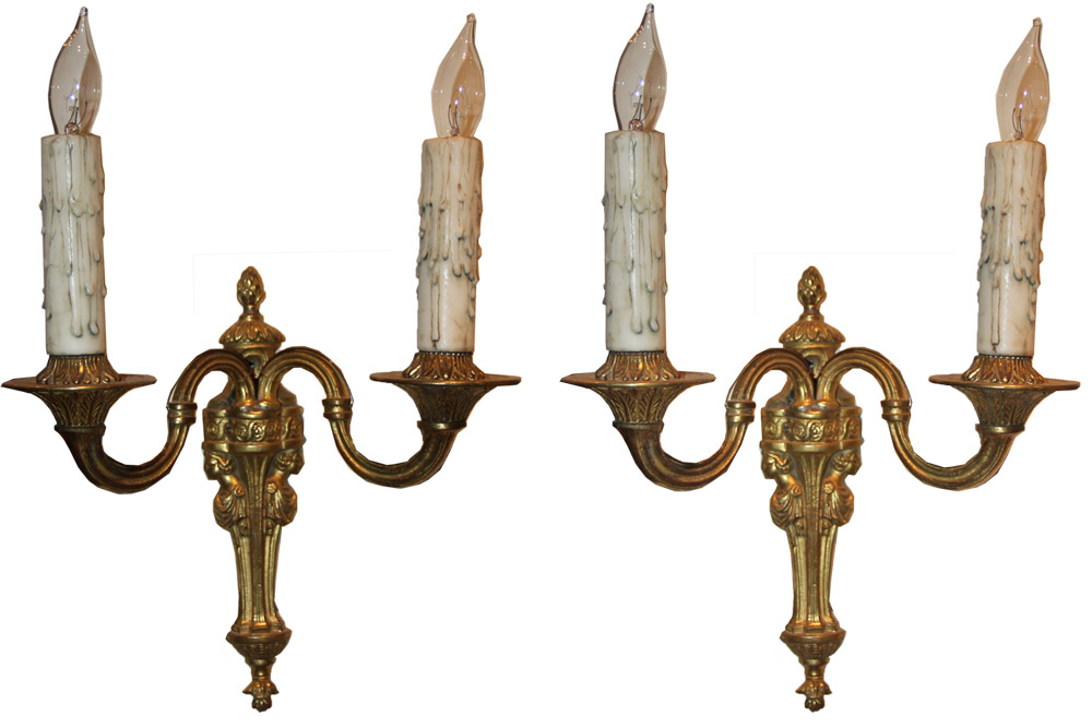 A Pair of Gilt-Bronze Wall Appliqués No. 265