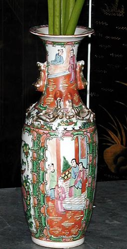 A 19th Century Famille Rose Chinese Porcelain Vase No. 387
