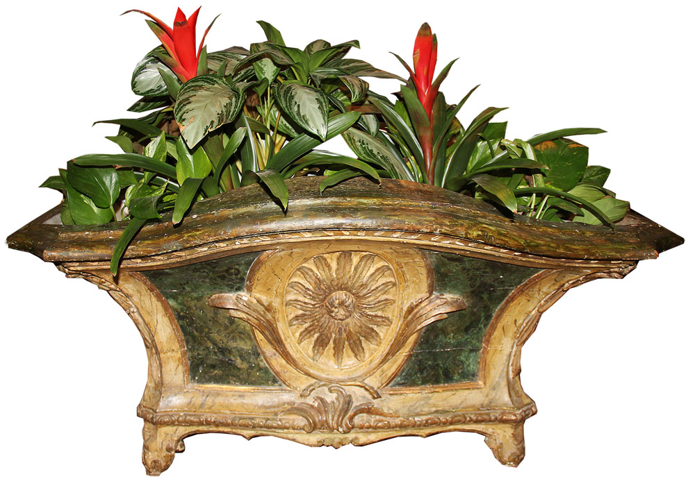 An 18th Century Polychrome and Parcel-Gilt French Louis XV Jardinère No. 2744
