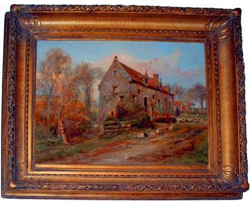 A 19th Century Italian Oil on Canvas No. 2436