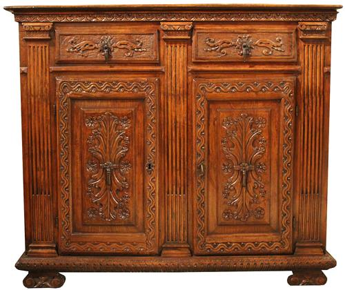 A 17th Century Italian Walnut Credenza No. 3755