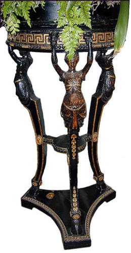 A 19th Century Parcel-Gilt and Ebonized Neoclassical Jardinière No. 113