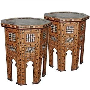 A Pair of 19th Century Moorish Levantine Octagonal Side Tables No. 3874