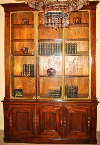 An 18th Century French Mahogany and Bronze Doré Bookcase No. 3765