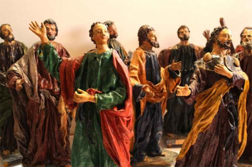A Grouping of Nine 18th Century Florentine Polychromed Papier-Mâché Apostle Statues No. 3925