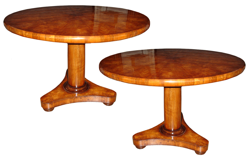 A Pair of Late 19th Century Maple Center Tables No. 3121