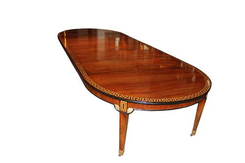 A 19th Century Italian Walnut and Parquetry Expanding Dining Table No. 2945