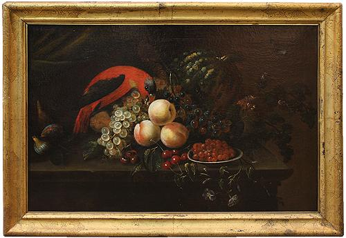 An 18th Century Still Life Oil On Canvas Painting No. 4175
