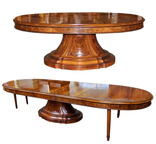 A 19th Century Italian Walnut Expanding Dining Table No. 4183