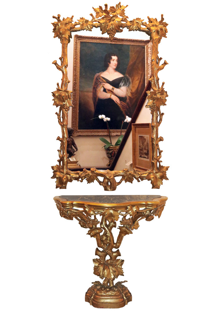 A Late 18th Century Rococo Giltwood Console and Mirror Set No. 3276