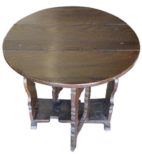 A 17th Century Florentine Walnut Drop Leaf Table No. 4197