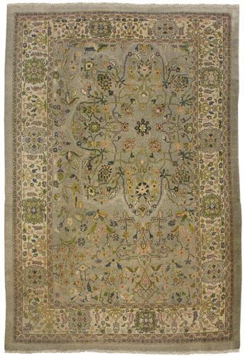 A Rare and Unusual Late 19th/Early 20th Century Persian Mahal Hand Woven Wool Rug No. 4208