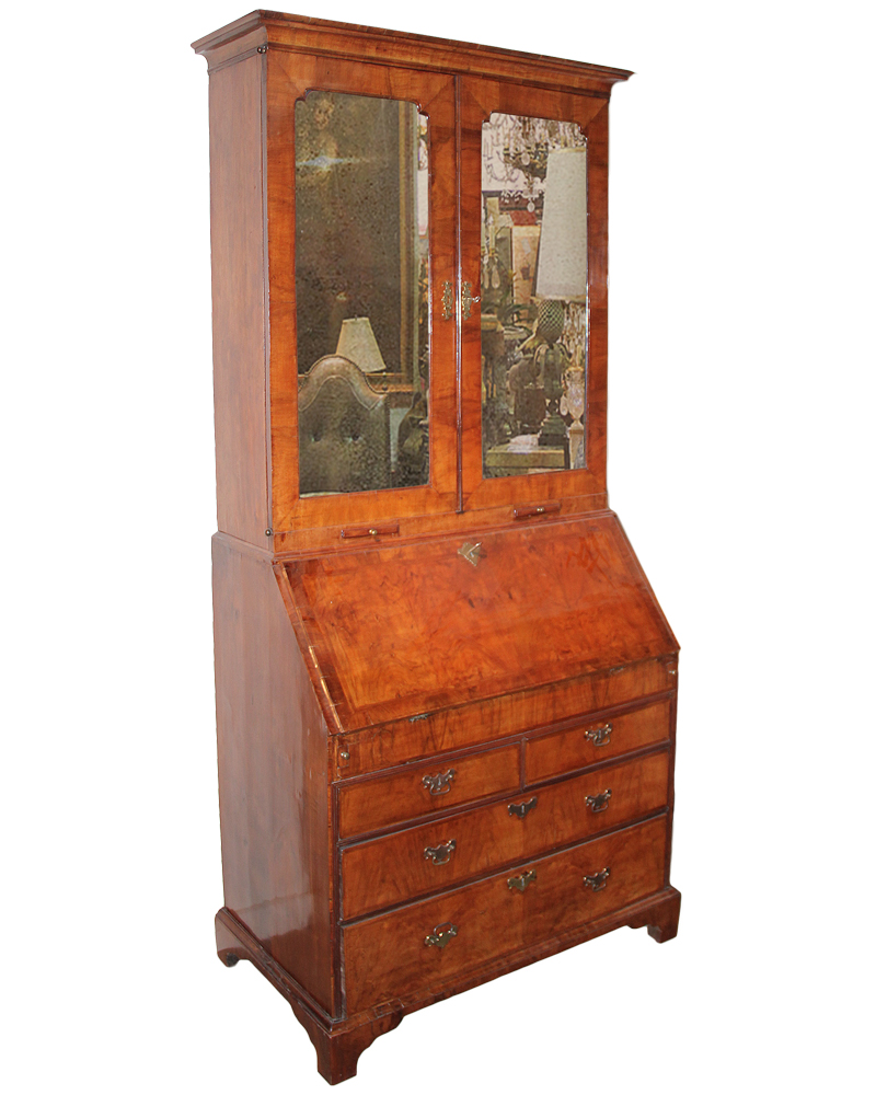 An 18th Century English Walnut George III Secretaire No. 3308