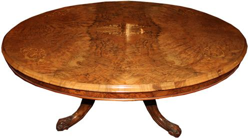 A Fine 19th Century Burl Walnut Coffee Table No. 4272