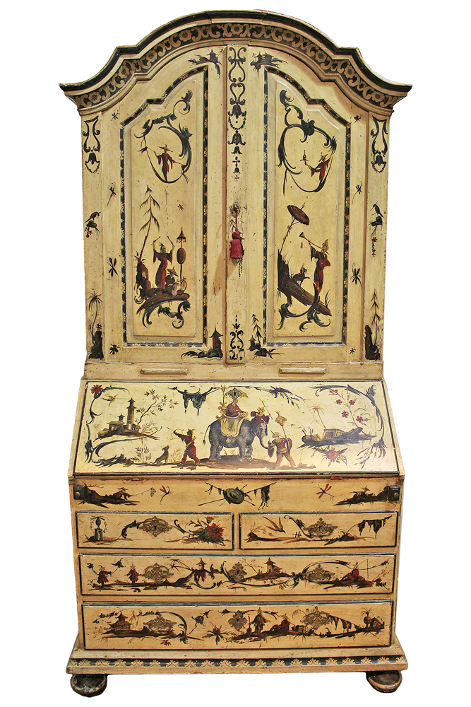 An Incomparable 18th Century Venetian Chinoiserie Secretaire No. 3412
