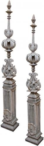 An Unusual Pair of 18th Century French Finial Architectural Elements No. 4328