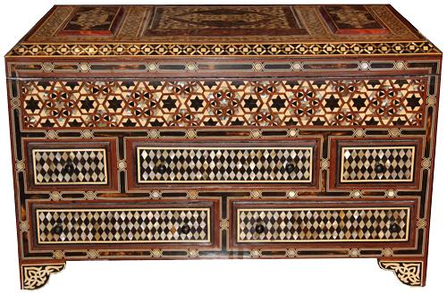A Unique and Palatially Scaled 19th Century Levantine Valuables Box No. 4359