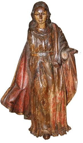 An Italian 18th Century Polychrome Statue of a Saint No. 4395