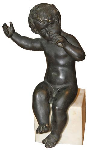 A 19th Century Italian Cast Bronze Sculpture of a Putti No. 4397