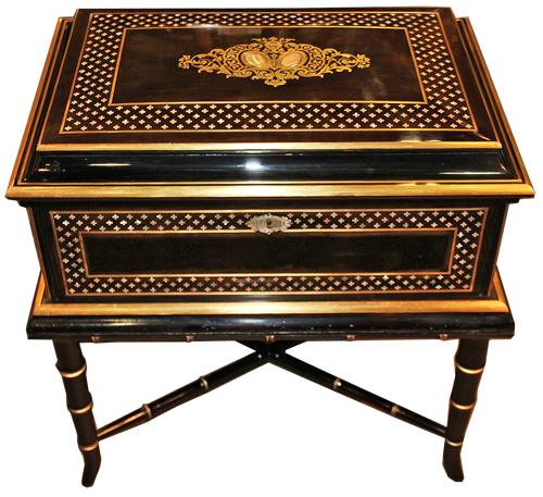 A 19th Century Anglo-Indian Ebonized Box on Stand No. 4461