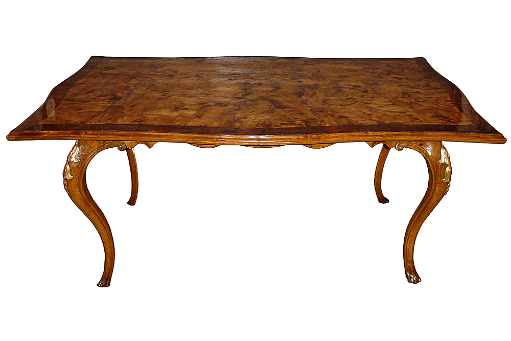 A 19th Century Italian Olivewood and Parcel-Gilt Table No. 3574