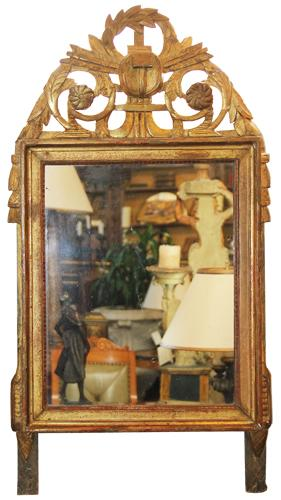 An 18th Century French Giltwood Transitional Louis XV-Louis XVI Mirror No. 4506