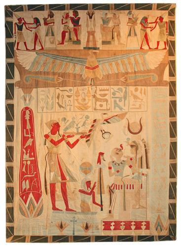 A Large and Unusual Egyptian Revival Wall Hanging No. 4508