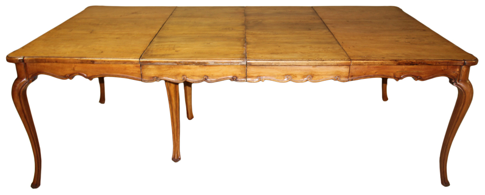 A Late 18th Century French Louis XV Provincial Cherry Dining Table No. 3725