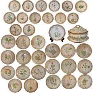 A 20th Century Set of Flora Danica Botanical Designs Dinnerware No. 3764