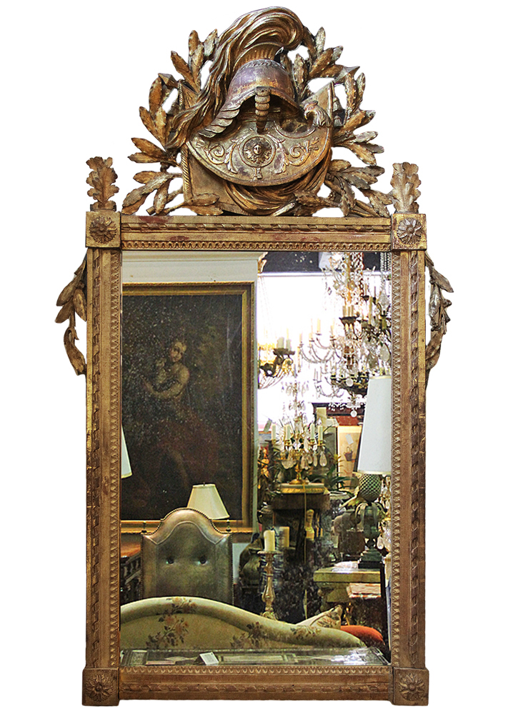 An 18th Century French Louis XVI Giltwood Neoclassical Mirror No. 3823