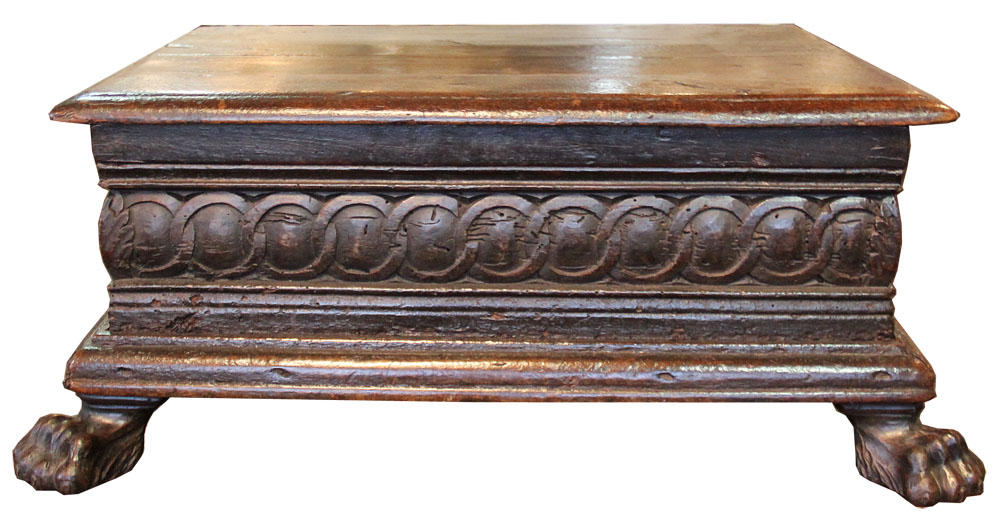 A Massive 16th Century Tuscan Oak Bible Box No. 4041