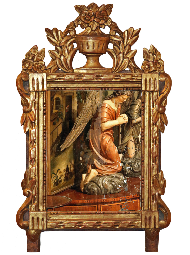 An 18th Century Italian Louis XVI Giltwood Mirror No. 4075