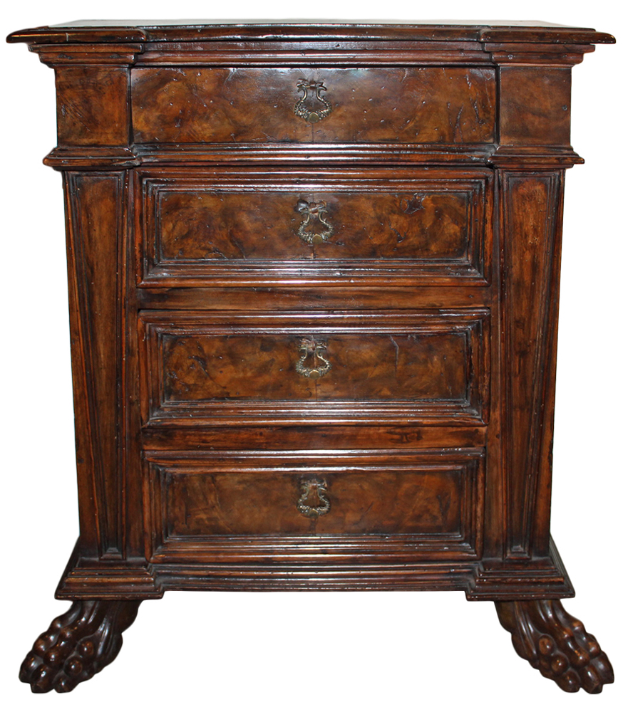 A 17th Century Tuscan Walnut Commodino No. 4177