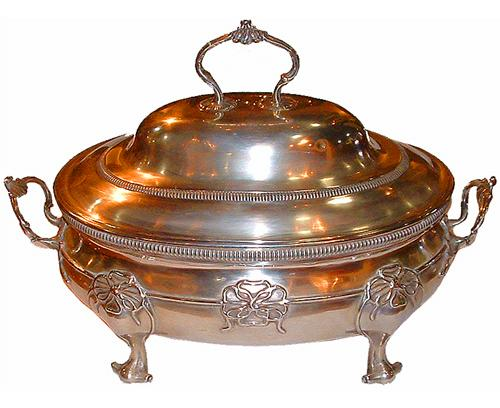 A 19th Century London Silver Chafing Dish No. 2449